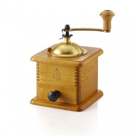 Macinacaffè manuale con cassetto color ciliegio