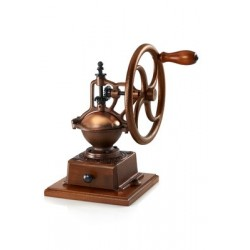 Manual coffee grinder with flywheel (copper)