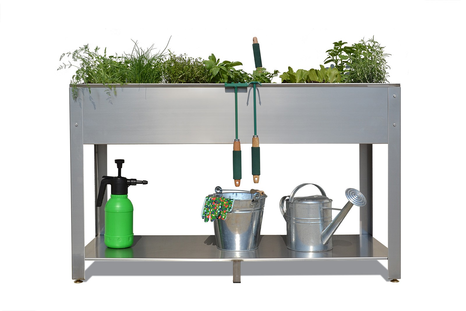 contenitori per orto in acciaio - Orto sul Terrazzo