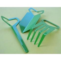 Kit di tre attrezzi per l'orto - colore verde